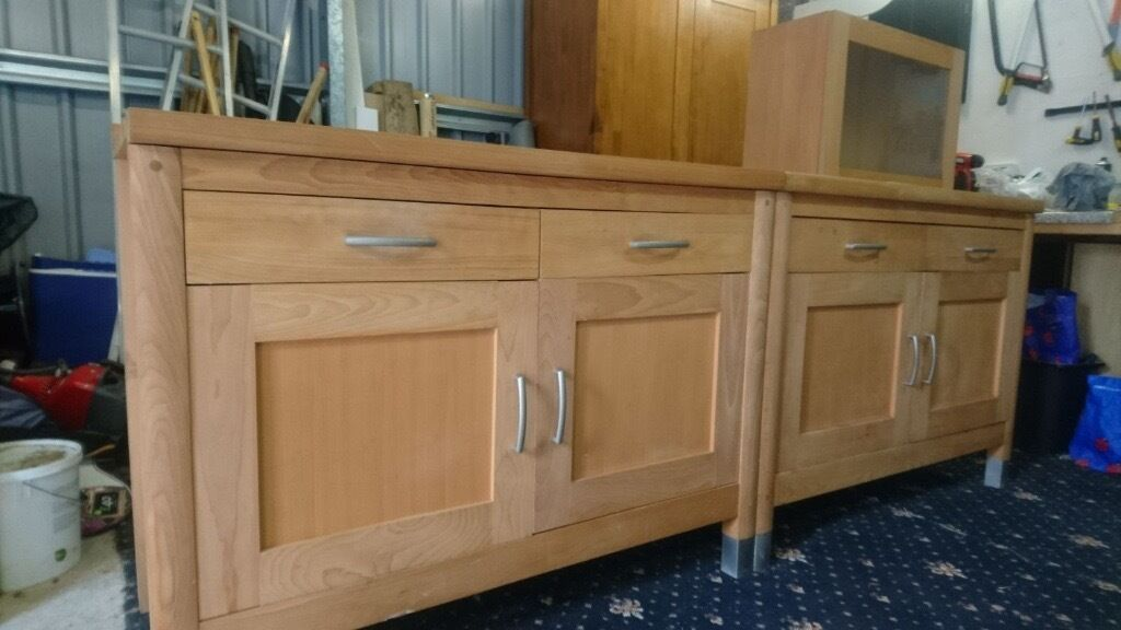 Marks Spencer Solid Oak Wood Freestanding Kitchen Units Sideboards Similar To Habitat Oliva