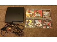PS3 250GB + 6 Games with box