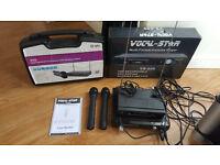 Vocal star Karaoke package 2 x wireless microphones