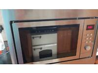 Combination microwace oven with grill
