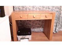 Super Heavy Solid Wood Desk with a Oak Veneer