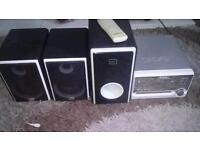 Ikasu stereo and dvd player combi with subwoofer