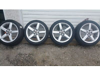 Audi GENUINE 18'' alloy wheels + 4 x tyres 245 40 18