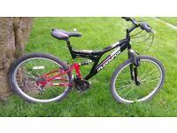 Muddy fox full suspension mountain bike 26 inch wheel