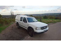 Ford Ranger 4WD 2.5TD Double Cab, covered back, 2003, 106000 miles, MOT till end August 2017