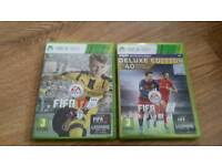 Fifa 17 and fifa 16 deluxe xbox360