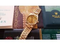 New Swiss Rolex Date Just Gold for sale! £35! £60 boxed!