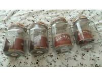 x4 Kilner Jars