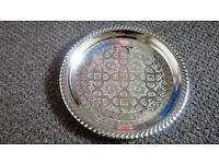 Handmade Moroccan silver tray - medium or small (brand new)