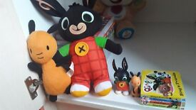 Talking Bing toy and book collection with extras