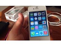 BOXED UNLOCKED 8GB IPHONE 4S WITH CABLE, CHARGER, CASES AND OTHERS!