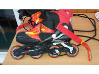 Roces Inline adjustable roller skates - plenty of use left in them. Youth Size 4 to 7 UK