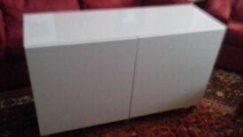 White IKEA Besta sideboard / storage / cabinet / cupboard