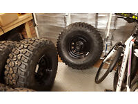 *NEW* BF Goodrich Mud Terrain, 33x12.5R15 tires on steel wheels 15x8 ET0, 6x139.7, fully balanced