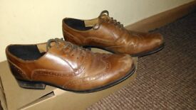 Boys Brown Leather Brogues size 5.5