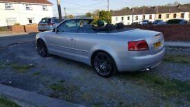 Audi a4 s-line top spec 20ltr tdi cabriolet.