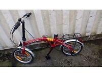 BIKE FOLDING BICYCLE SEAT REQUIRED 6 SPEED 16 INCH WHEEL AVAILABLE FOR SALE