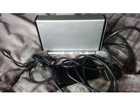 TOSHIBA 250GB EXTERNAL HARD DRIVE IN CADDY + LEADS EXTERNAL HDD