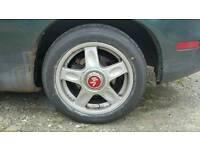 Rays engineering volk racing alloy wheels tyres 195 50 15 inch