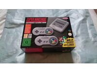 SNES Super Nintendo Mini Classic, Brand New, never opened