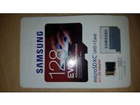 Samsung 128G Evo Plus with SD Adapter Micro SD Memory Card