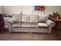 Brand new 4 seater crushed velvet sofa