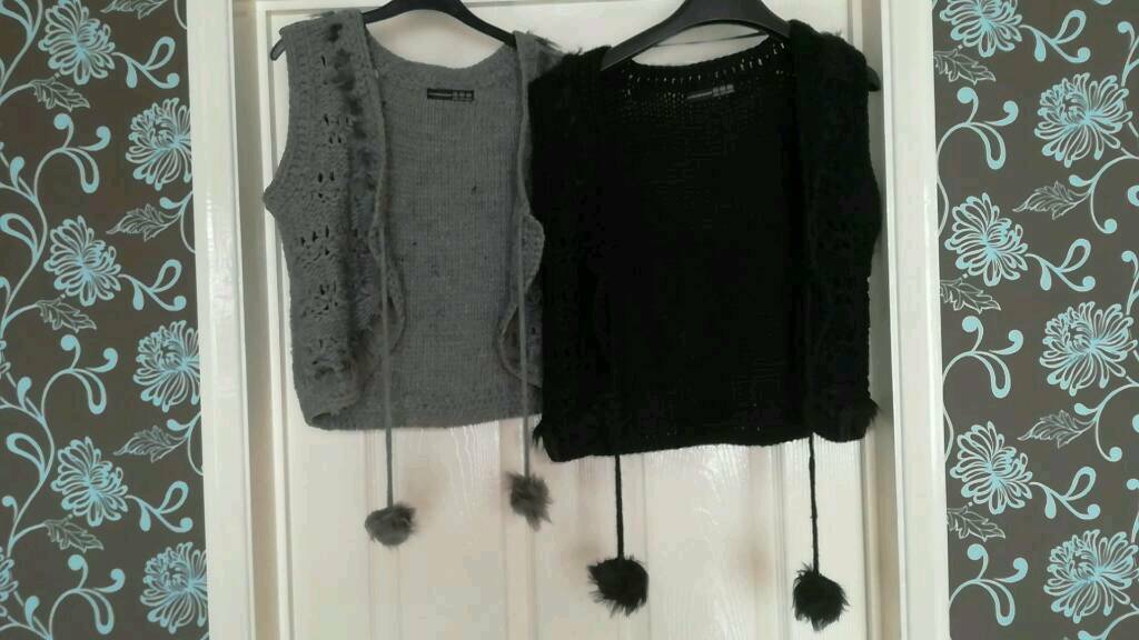 Ladies knitted waistcoats x 2 (size 14)