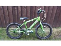 Raleigh Striker 18in Boys Bike (Green) Very Good Condition