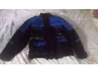 Men's Motorcycle Protective Jacket, Excellent Condition (M)