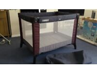 Mamas and Papas Classic Travel Cot - Blueberry/Nickel