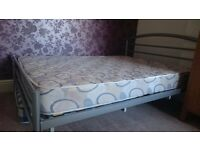 Double bed frame with mattress. Only £50