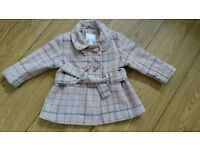 Georgeous Pink & Grey NEXT Duffle Coat 12-18 Months