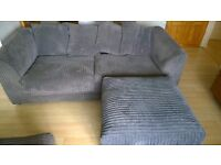 Rarely used 2 seater light weight comfortable sofa with footrest stool