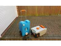Caravan water and waste containers