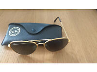 Vintage Gold Ray Ban Aviator Sun Glasses with Case Bausch & Lomb
