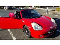 Toyota MR2 Roadster VVTI 1.8. Red 82000 miles. Mot Sept 2017.