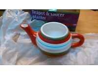 Teapot and saucer Planter