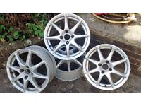 JOB LOT OF ASSORTED ALLOY WHEELS & TYRES.(1)