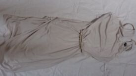 Offers Open. Brand New with Label River Island halter neck Dress size 8 - Cream. Beautiful