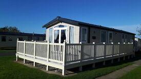 3 bedroomed Caravan Prestige with decking at Primrose Valley, Filey.
