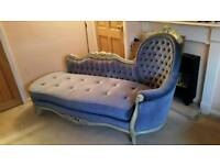 Chaise lounge beautiful hand carved wooden frame