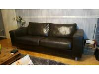 Leather sofa free to collect today 18/11