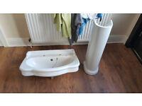 Bathroom Sink & Pedestal