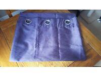 Faux Silk Purple Eyelet Curtains