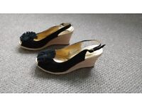 Black wedge shoes from Hotter size 5.5
