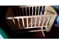 Mothercare gliding crib Free