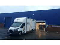 Preston Removals Service, Large Luton van and three men ,
