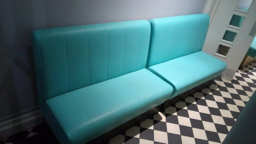 Leather booth seating, for cafe, bar etc