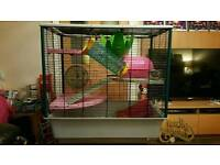 Large Ferplast Rat / Ferret Cage with accessories