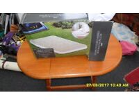 tesco double flock airbed used twice